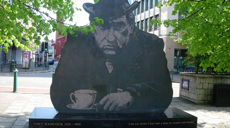 Tony Hancock memorial statue in Birmingham