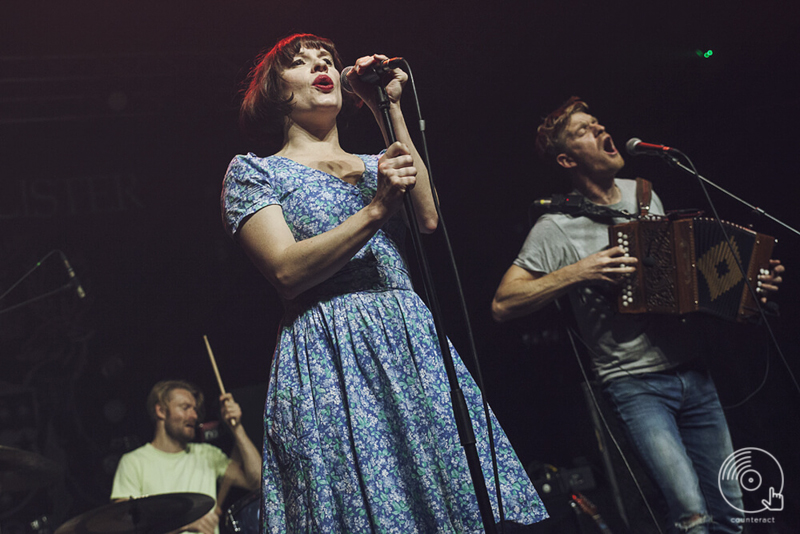 Skinny Lister supporting Frank Turner at the O2 Academy in Birmingham