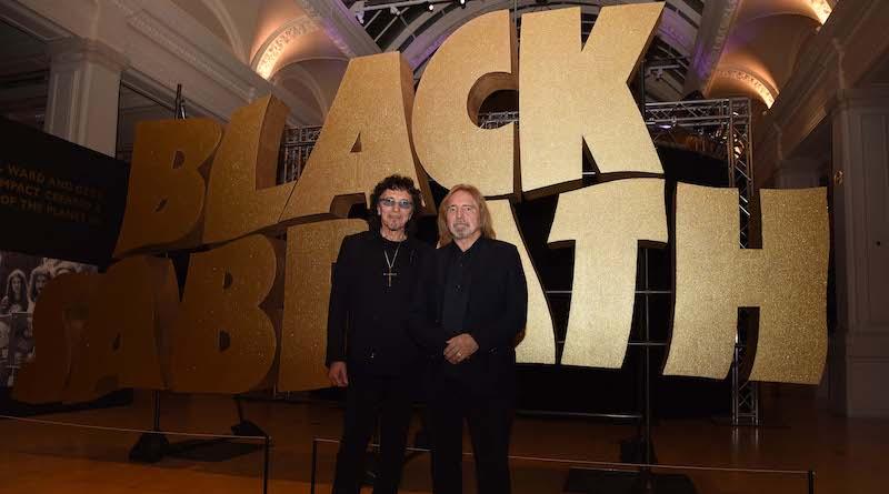 Tony Iommi and Geezer Butlter at exhibition - Jas Sansi photo