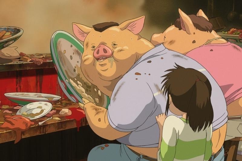 Spirited Away film pigs